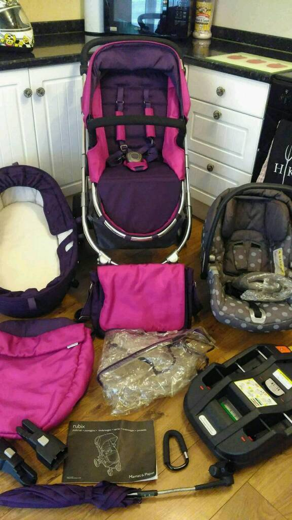 Mama's & Papa's Rubix travel system, car seat, pram, pushchair and all matching accessories