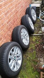 Genuine BMW E90 16 inch Alloy Wheels (Style 156) with Michelin Alpin Winter Tyres