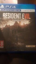 Resident evil bio hazard ps4