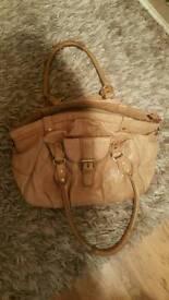 Topshop leathee hand bag