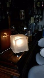 Large 6 inch square ice cube light this came out of my bar .fully working