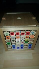 wooden multi activity cube