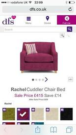DFS RACHEL SNUGGLER CHAIR GUEST BED