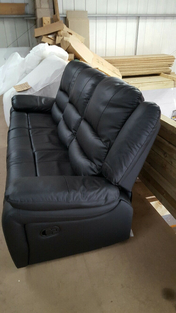 AUTUMN SALE Brand New Premium Recliner Campo Faux Leather Three Seat Sofa £280