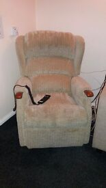 Riser recliner chair. Beige. Low price for quick sale.