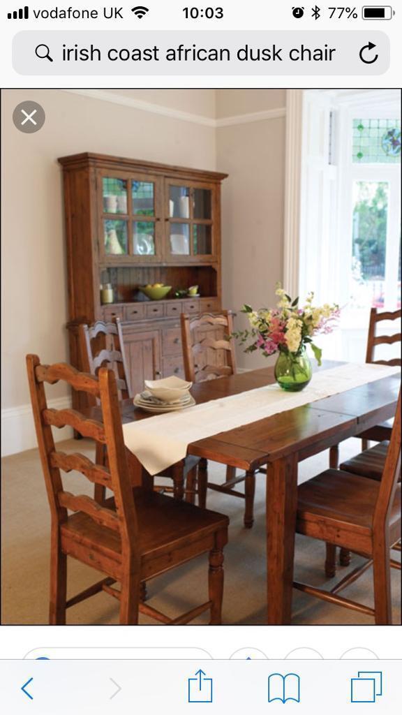 6 Irish Coast Solid Wood Handmade High Back Chairs In Barrhead Glasgow Gumtree