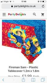 Fireman sam party decorations