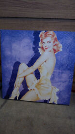 pinup girl canvas
