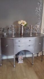 Silver sideboard elegant but fashionable lovely piece of furniture