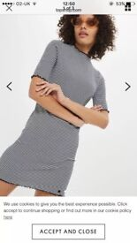 Topshop petite size 10 body on dress. Never worn, excellent conditions, tags attached