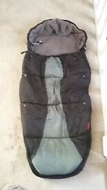 Phil and Teds Black foot muff / cacoon for pram/pushchair