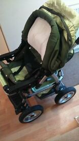 kaps 3 flash travel system pram car seat buggy