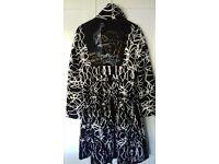 Desigual womens coat Stunning black and white coat size 14 hardly ever worn aporox 8 hours