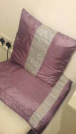Diamonte double runner and matching cushion