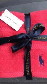 Ralph Lauren hand towel set bathroom brand new with tags £25ono