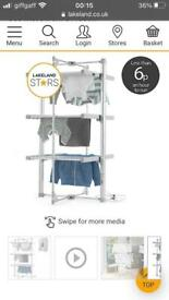 Lakeland heated airer with cover
