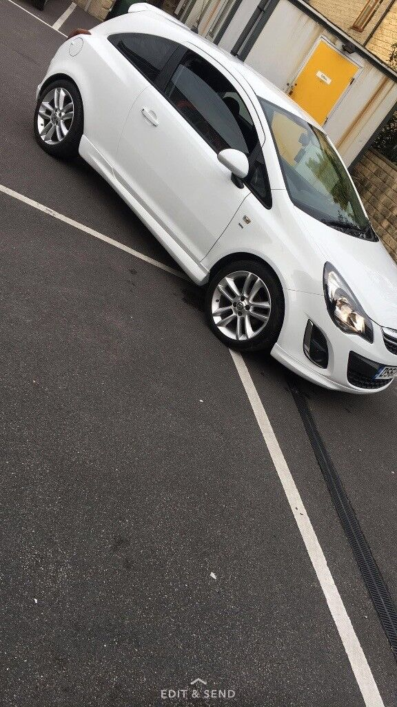 Vauxhall Corsa white sri 13 plate first to see will buy