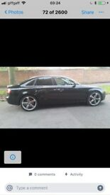 Black Audi A4 very good condition low mileage excellent drive reliable service history £5800 ono