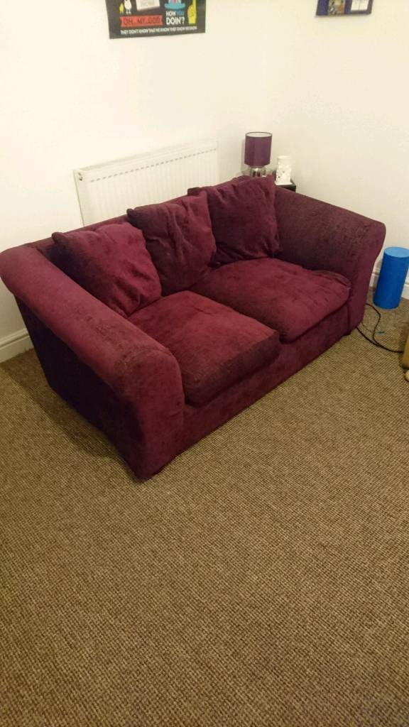 Free Purple 2 Seater Sofa For Sale In St George Bristol
