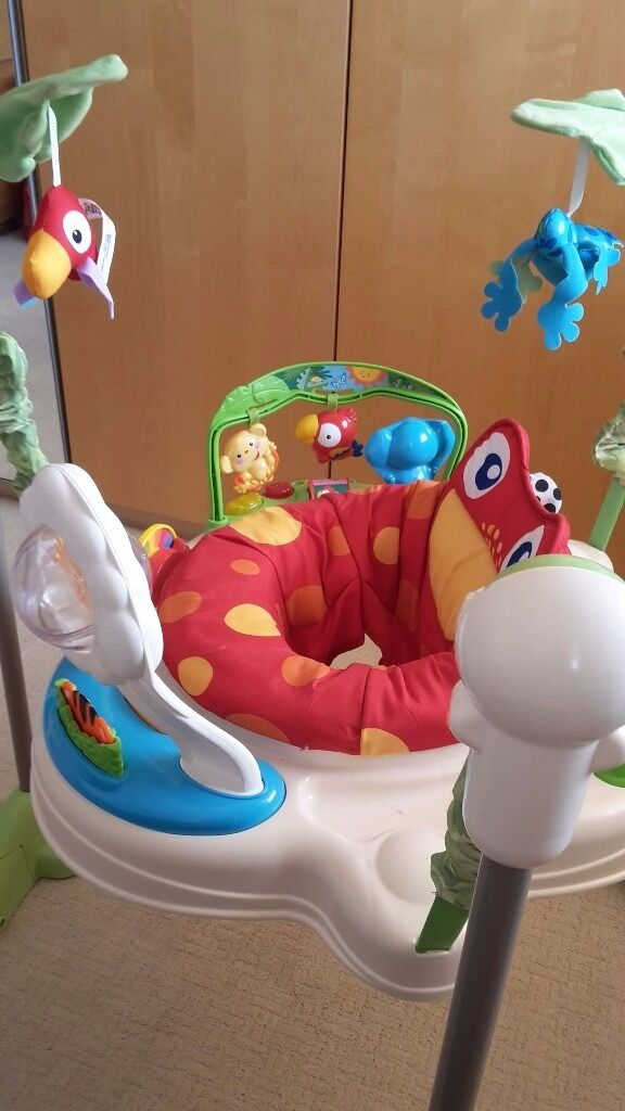 Baby Bouncer Music Toy Fisher Price Jumperoo Motion Activity Rainforestin Romford, LondonGumtree - Baby bouncer is in a Excellent condition from a non smoking home