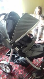 Stroller 5 moths old cost £200 new comes withcosy toes rain cover and adaptors great condition