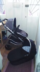 Icandy strawberry pushchair and carrycot.