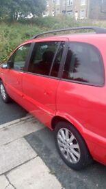 Vauxhall Zafira limited editon with parking sensor 7seats