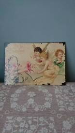 Shabby chic wall plaque