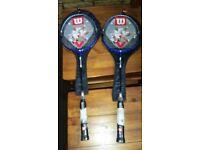 x 2 New Badminton Rackets