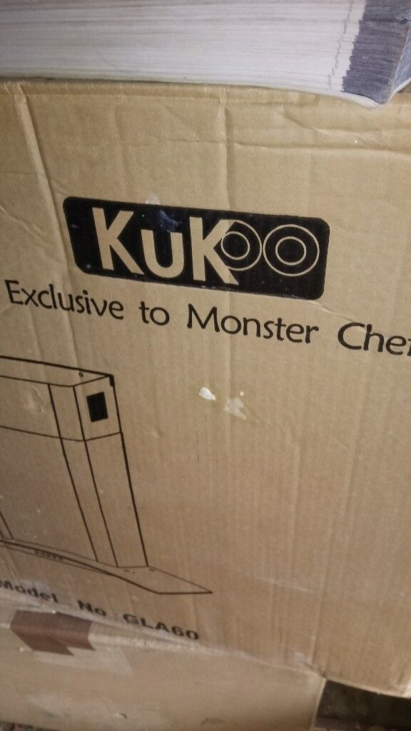 KuKoo Curved Glass Cooker Hood Extractor