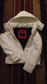 Medium White and pink Hollister jacket