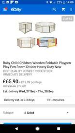 Colourful Wooden Play Pen