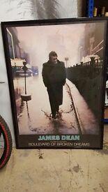 James dean framed picture