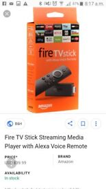 Amazon firestick with alexia voice activation brand new in box has been opened collection only swind