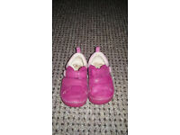Clarks pink first shoes. size 4 G