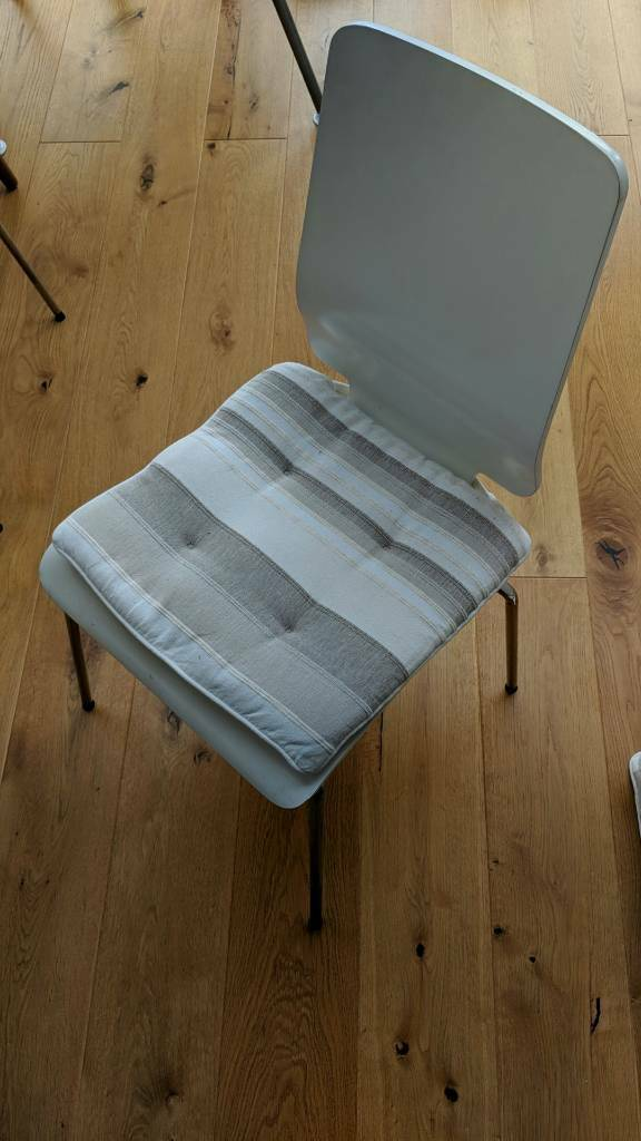 4 dining room white Gilbert IKEA chairs with covers | in ...
