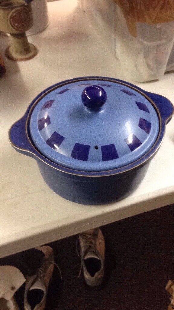 Imperial blue denby dish