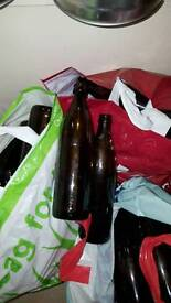 Approx 50 Brown beer bottles for brewing or cider making