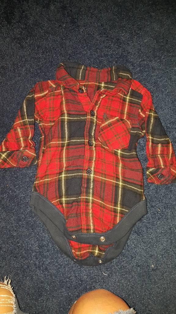 GEORGE first size up to 9lbs red chequed shirt perfect for Christmas