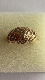 9K Alexandrite Yellow Gold Ring. Size N