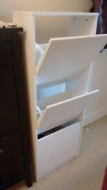 IKEA white Bissa shoe cabinet excellent condition