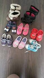 Girls shoes different sizes