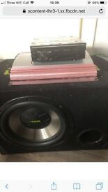 Sub and amp and CD player for sale