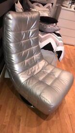 Silver chrome base chair