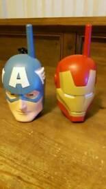 Walkie Talkies Captain America and Iron Man