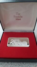 "THE FRANKLIN MINT STERLING SILVER 925g ""MILLENNIUM 2000"" ING"