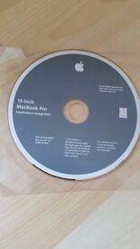 Genuine Apple 15 Inch MacBook Pro Application Install DVD, Working!