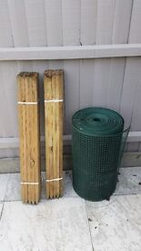 Fencing materials for allotment or chicken rabbit run etc ...