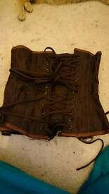 Steampunk under bust corset