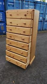 Extra large quality solid pine chest of draws,,can deliver